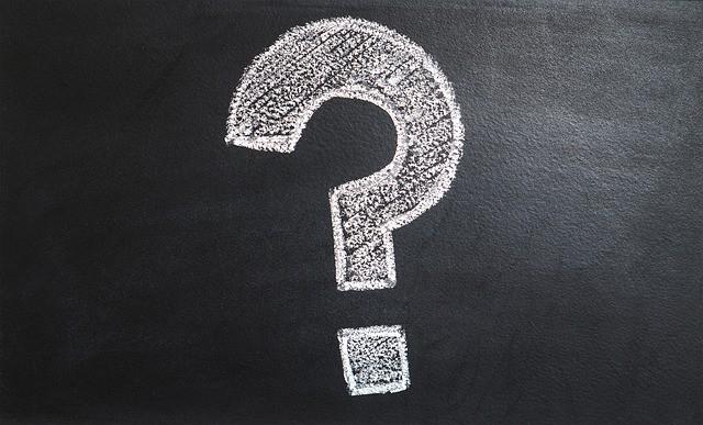 question mark on a blackboard in chalk